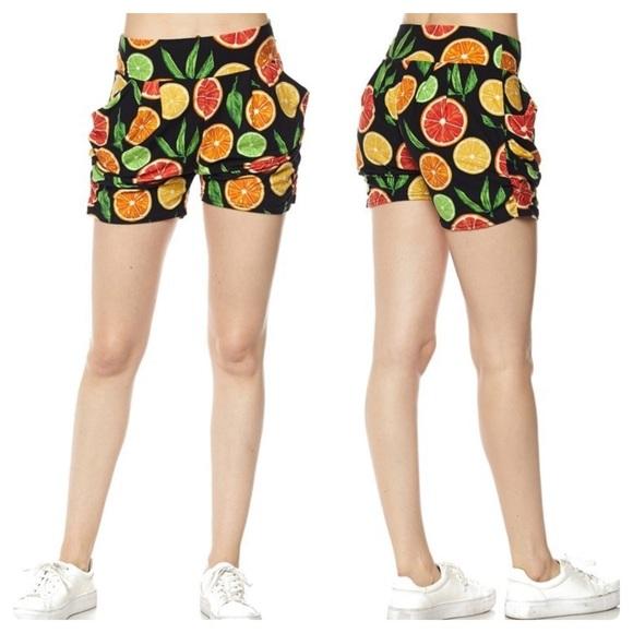 New Mix Pants - 🎉HP!🎉 Summer Citrus Harem Style Shorts w/Pockets